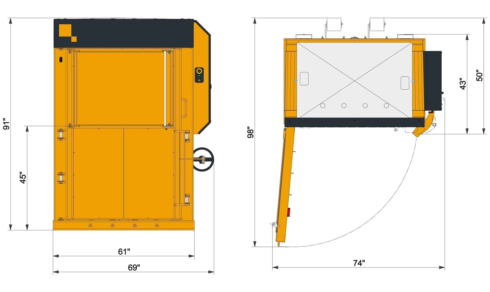 Extra Low Profile Multi-Purpose Baler