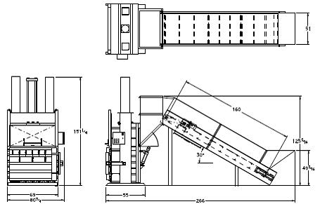 Super High Volume Baler with Conveyor - Diagram