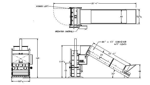 hydraulic conveyor schematic