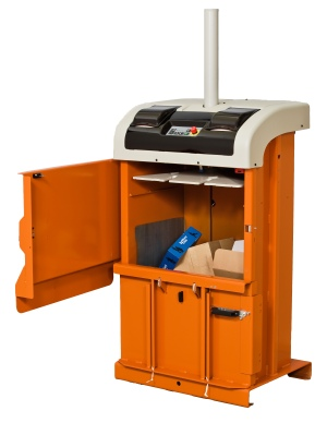 Space Saver Mini-Baler with Door Open