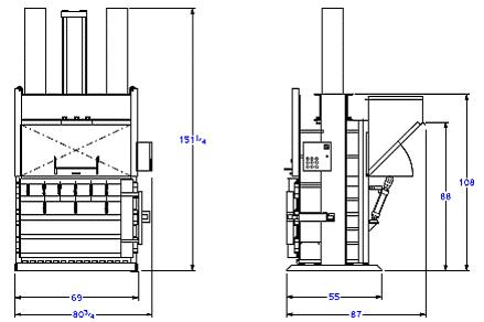 Super High Volume Baler with Rear Chute - Diagram
