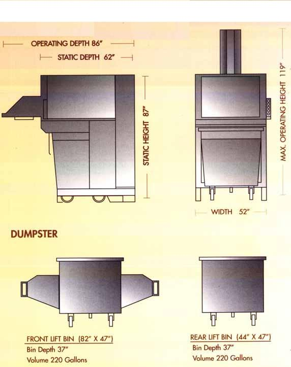 Compactor - Bin Portable Diagram