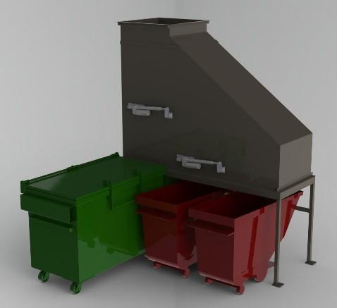 hi Rise Building hi Rise Trash Recycling Combo