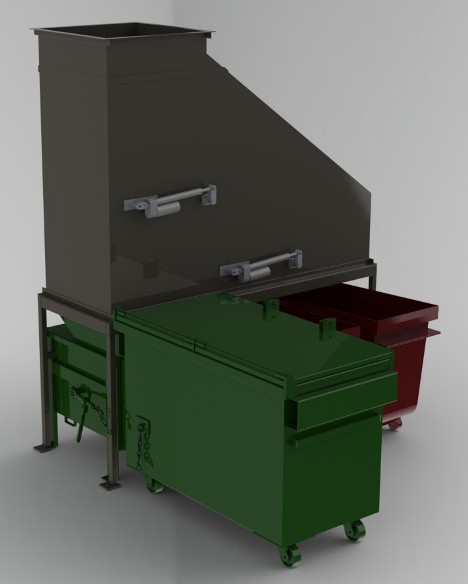 High Rise Trash Recycling Diverter