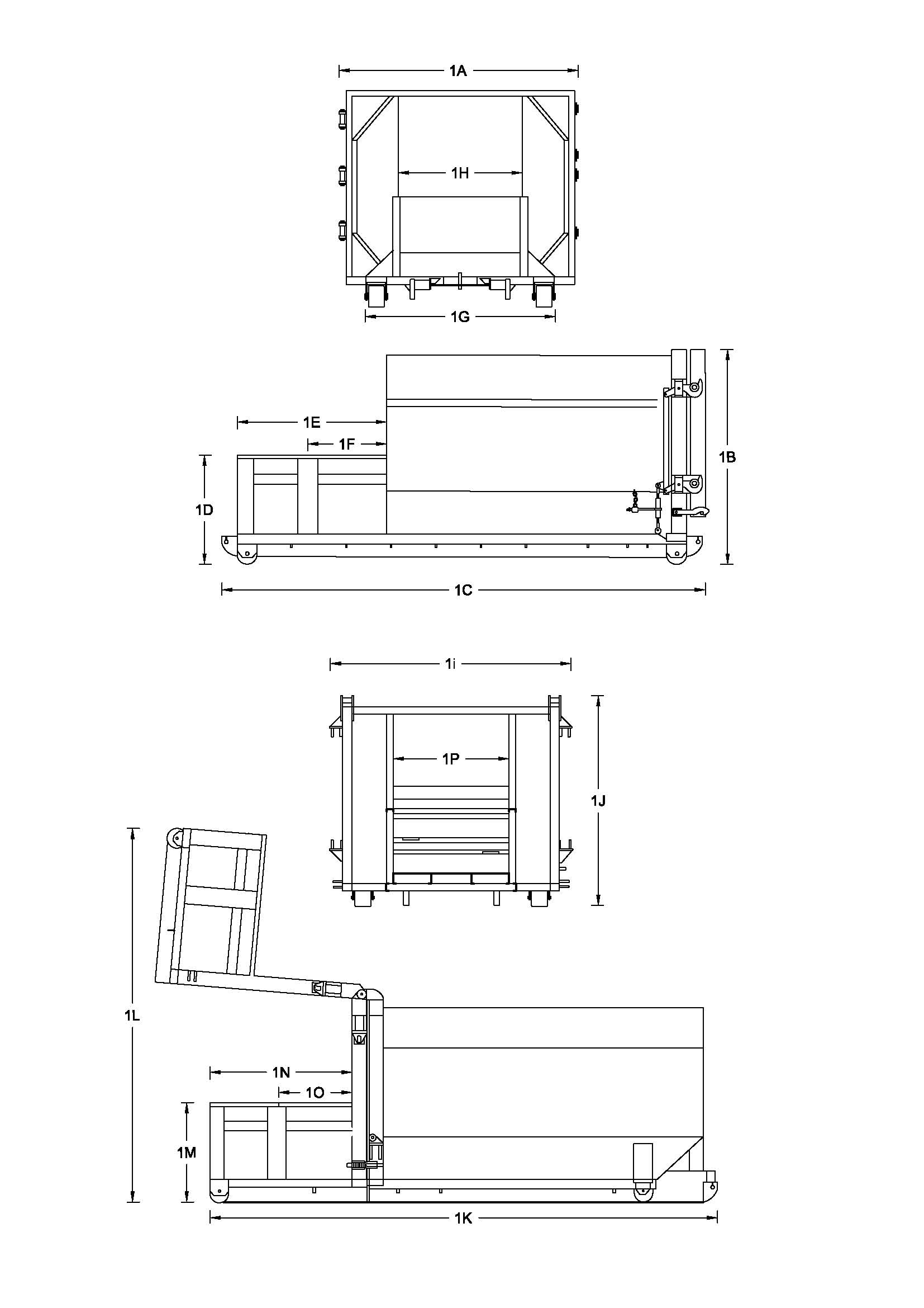 1 Yard Self Contained Compactor Diagram