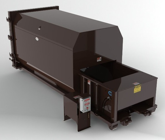 34 Yard Self Contained Compactor - 2 Yd Charge Box